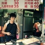 永康街で食べたいおやつ「天津葱抓餅」のネギクレープ
